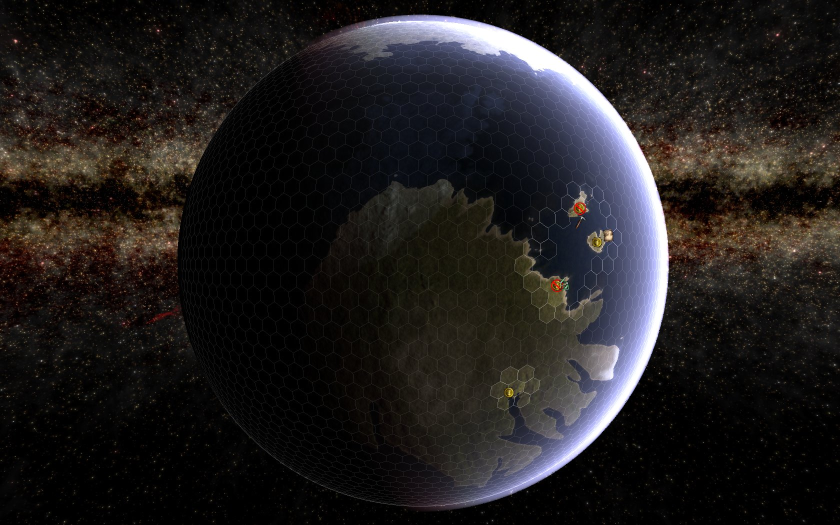 Terran planet with hex grid - Predestination - an indie ...