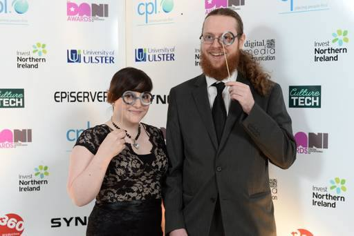 Tina Lauro (left) and Brendan Drain (right) at the 2013 DANI Awards