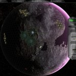 Colonised Toxic planet with biospheres